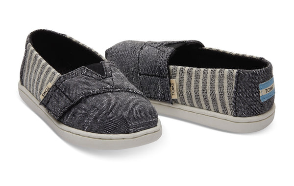 TOMS - Black Small Cabana Stripe