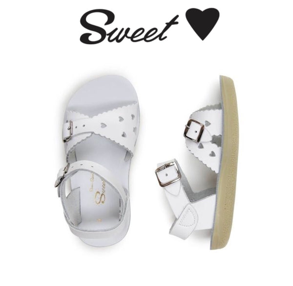 Salt Water Sandals - Sweetheart White