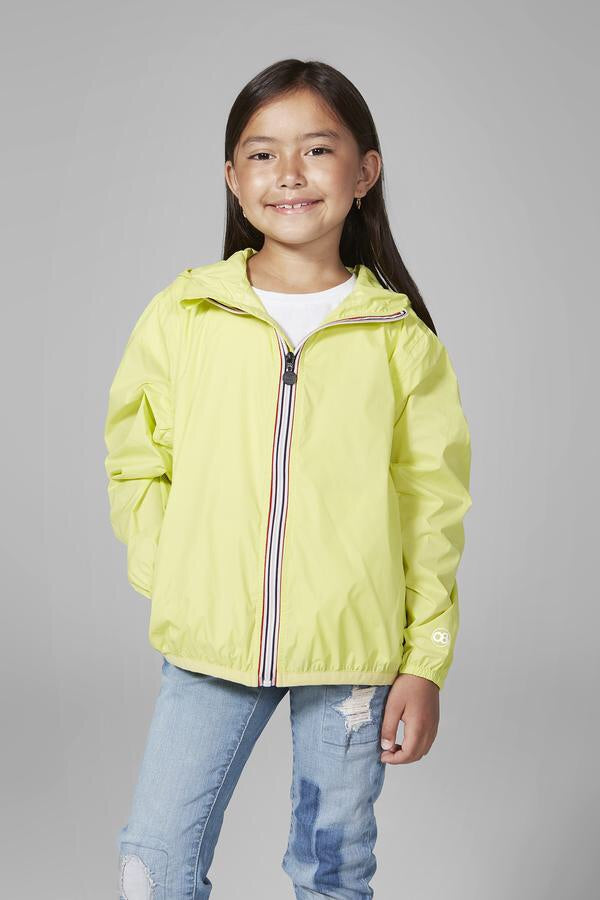 O8lifestyle - Kids Citrus Full Zip Packable Rain Jacket