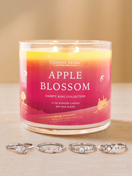 Apple Blossom Candle - Dainty Ring Collection