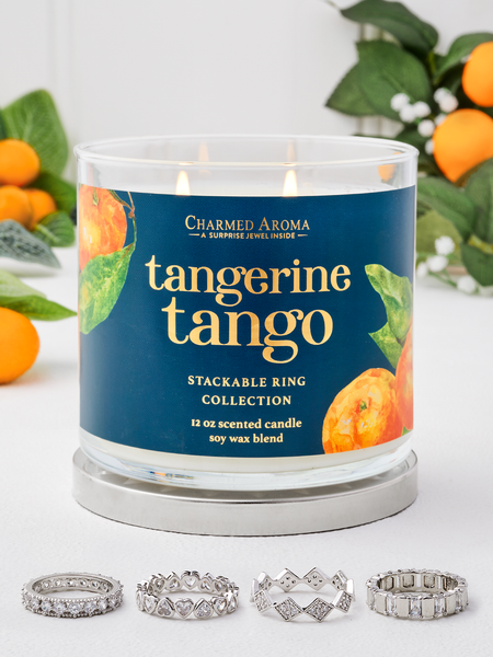 Tangerine Tango Candle - Stackable Ring Collection