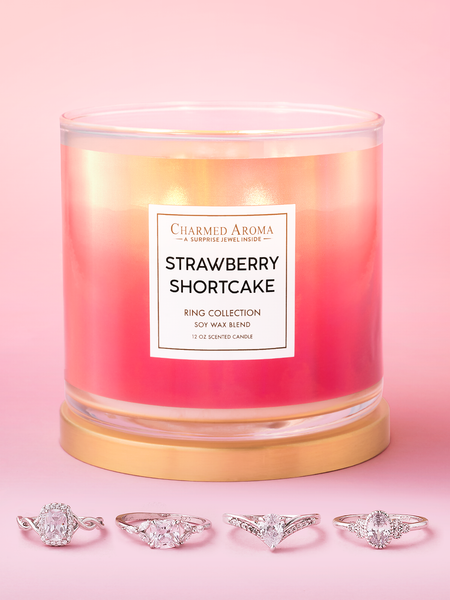 Strawberry Shortcake Candle - Ring Collection