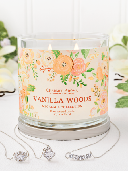 Vanilla Woods Candle - Necklace Collection