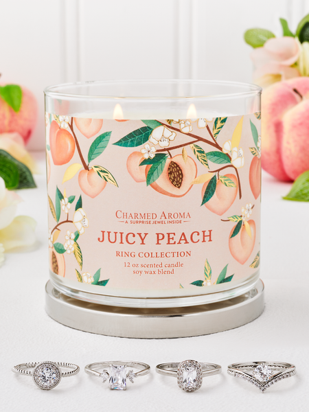 Juicy Peach Candle - Ring Collection