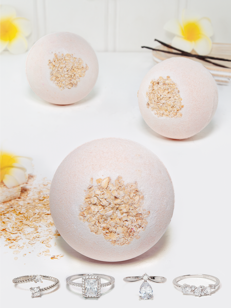 Oatmeal Vanilla Bath Bomb - Ring Collection