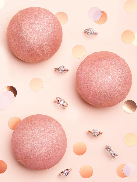 Bombe de Bain Or Rose - Collection Bague Or Rose