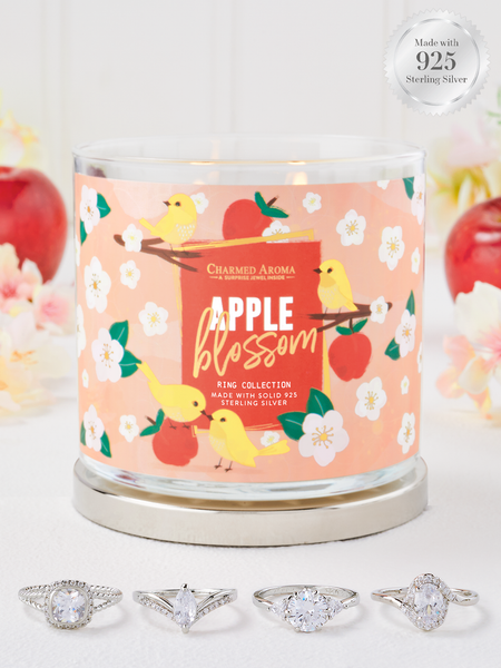 Apple Blossom Candle - 925 Sterling Silver Ring Collection