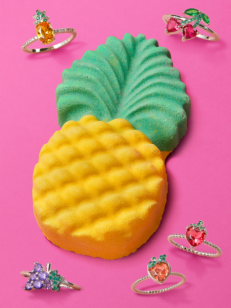 Pineapple Bath Bomb - Tutti Frutti Ring Collection