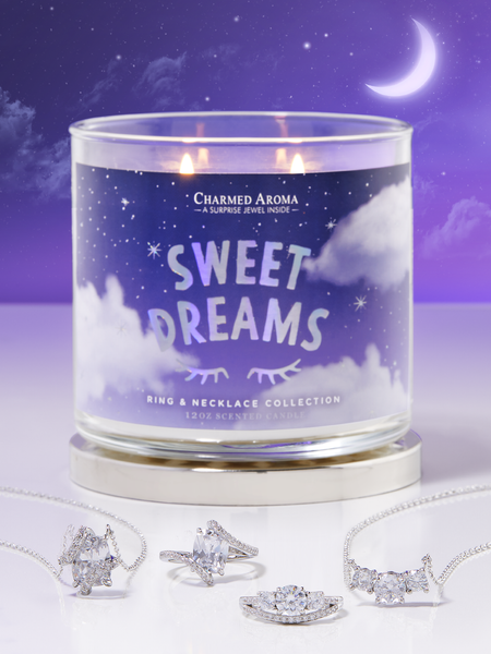 Sweet Dreams Candle - Matching Ring & Necklace Collection