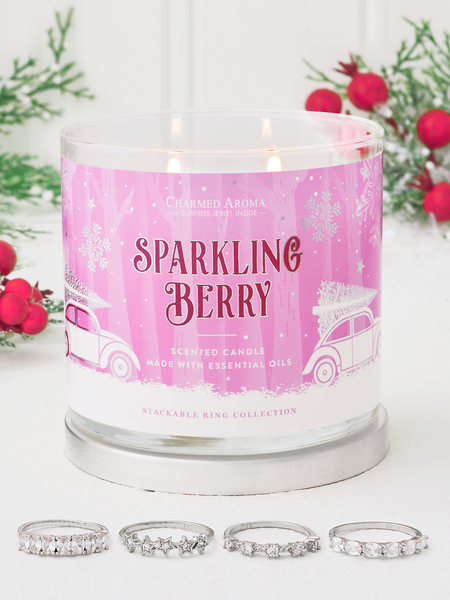 Sparkling Berry Candle - Stackable Ring Collection