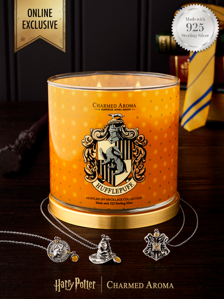 Harry Potter Hufflepuff Pride Candle - 925 Sterling Silver Hufflepuff Necklace Collection