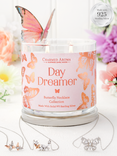 Daydreamer Candle - 925 Sterling Silver Butterfly Necklace Collection