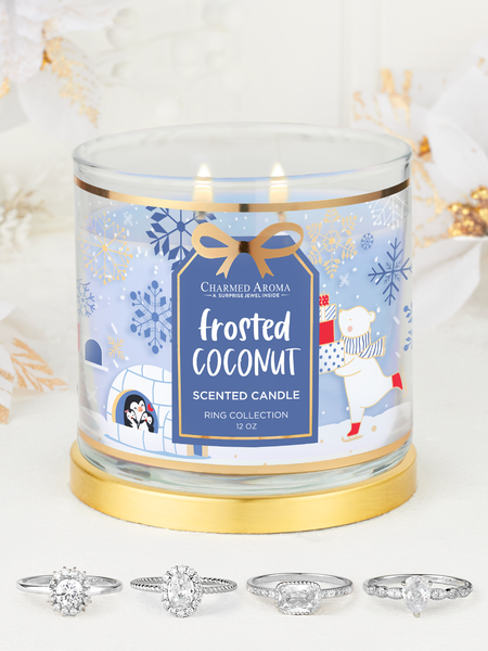Frosted Coconut Candle - Ring Collection