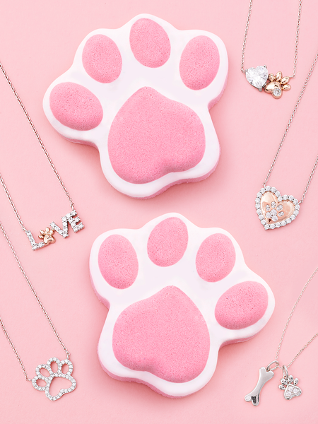 Paw Bath Bomb - Paw Necklace Collection
