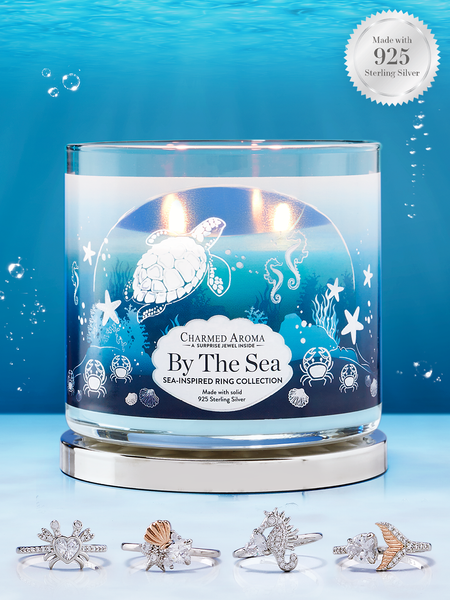 By the Sea Candle - 925 Sterling Silver Sea-Inspired Ring Collection