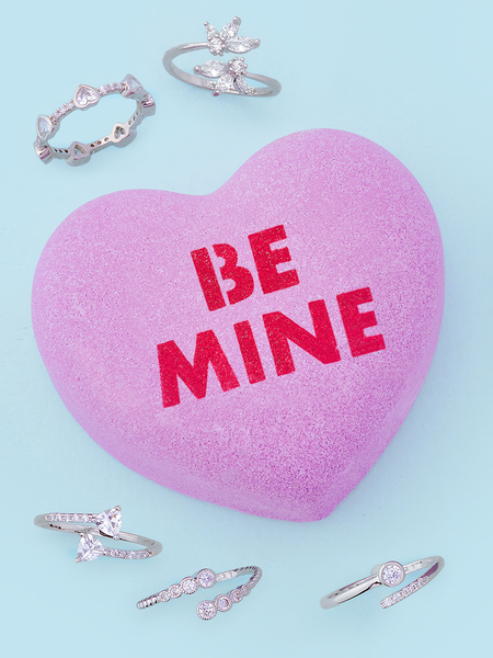 Be Mine Conversation Heart Bath Bomb - Adjustable Ring Collection