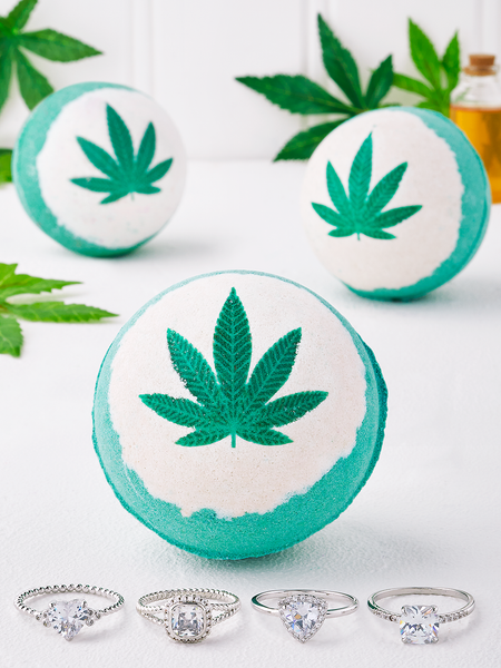 Hemp Oil Bath Bomb - Ring Collection