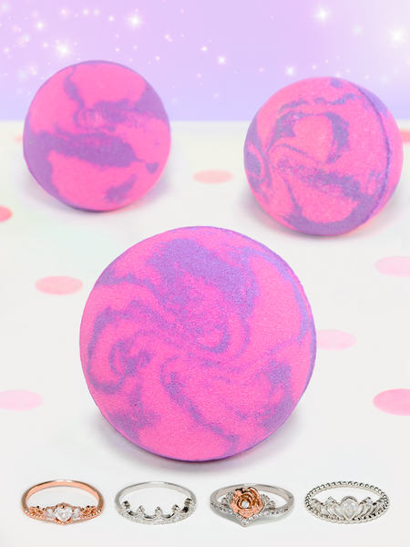 Princess Bath Bomb - Crown Ring Collection