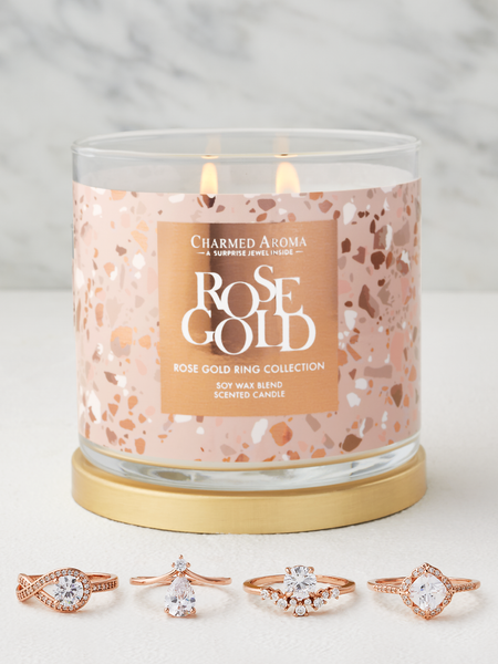 Rose Gold Candle - Rose Gold Ring Collection