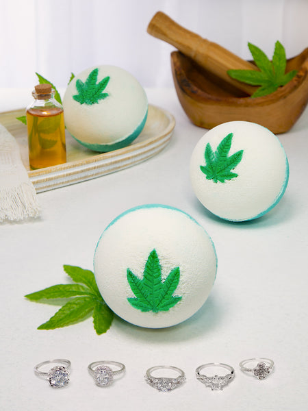 Hemp Oil Bath Bomb - Classic Ring Collection