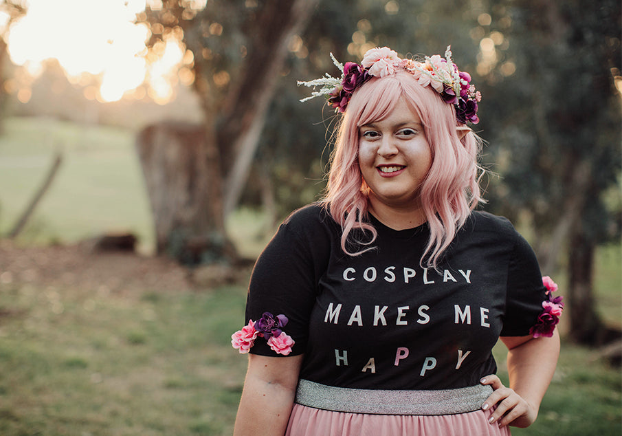 Cosplay Makes Me Happy Foam Armor Club T-Shirt