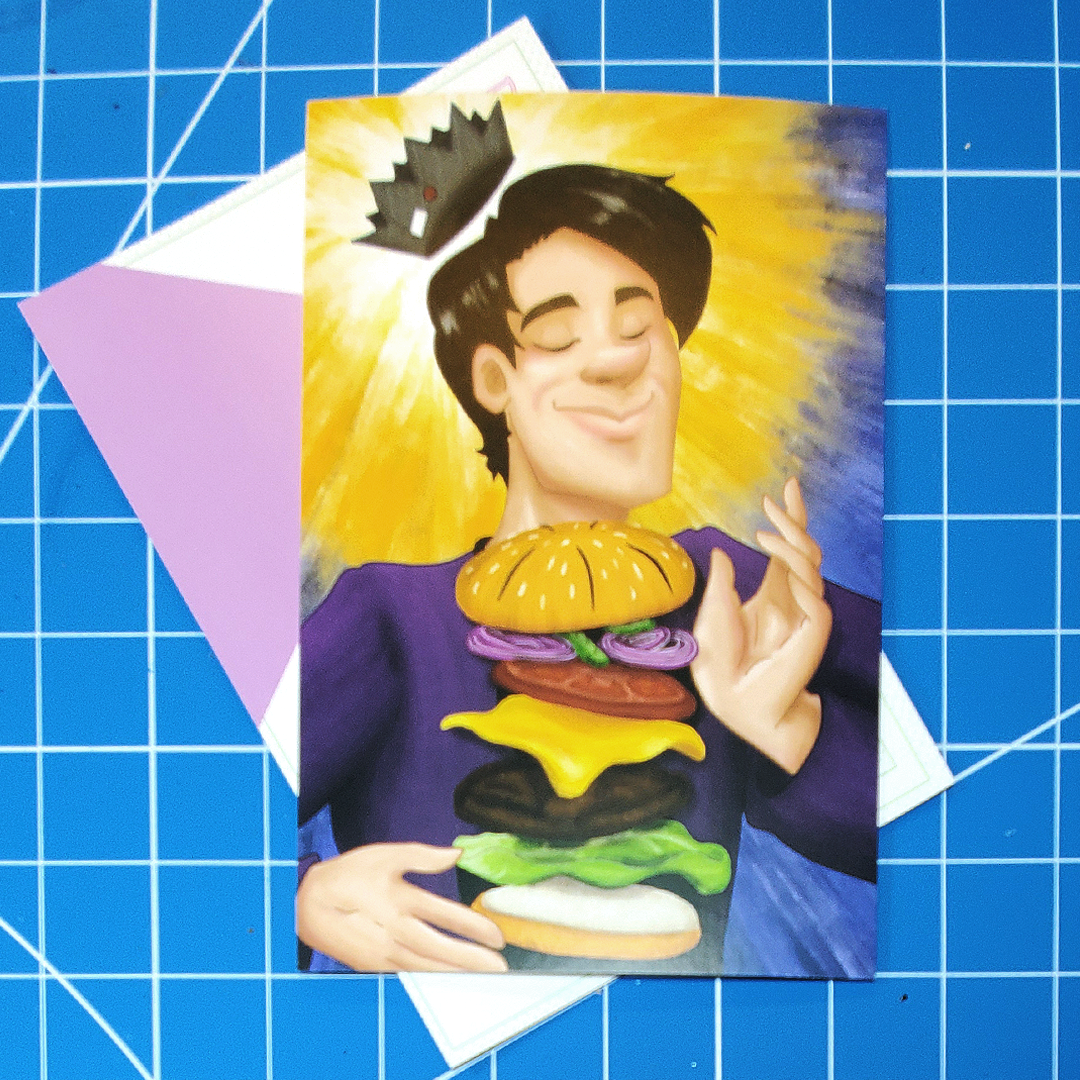 Juggie Burger Postcard