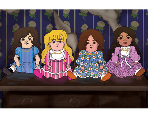 Pretty Little Dolls Postcard