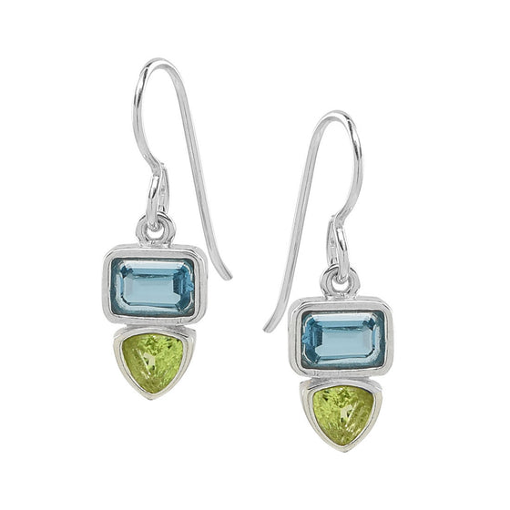 Blue Topaz with Peridot