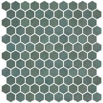 Stone Glass Hex Green