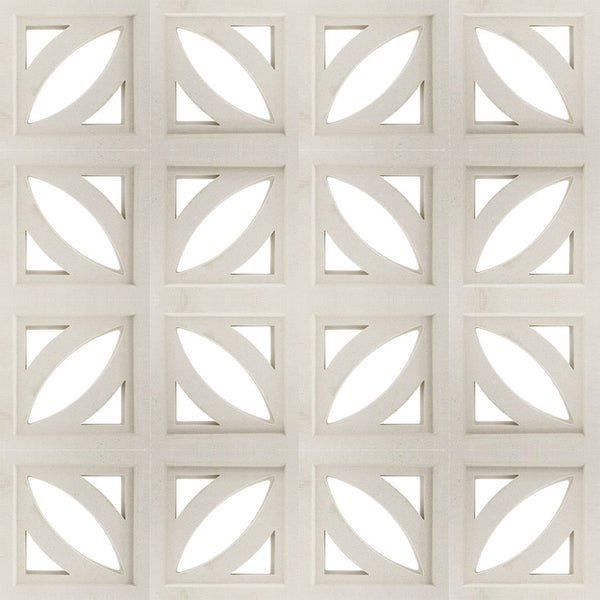 Breeze Block Leaf White