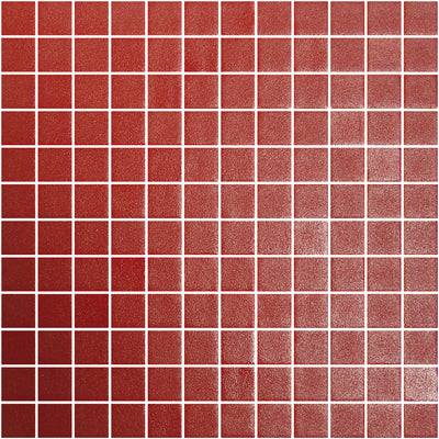 Stone Glass Square Rojo