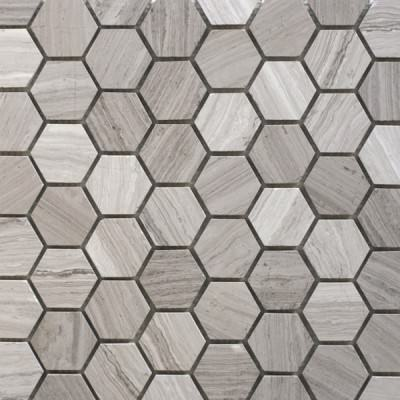 Silver Travertine Hexagon Mosaic