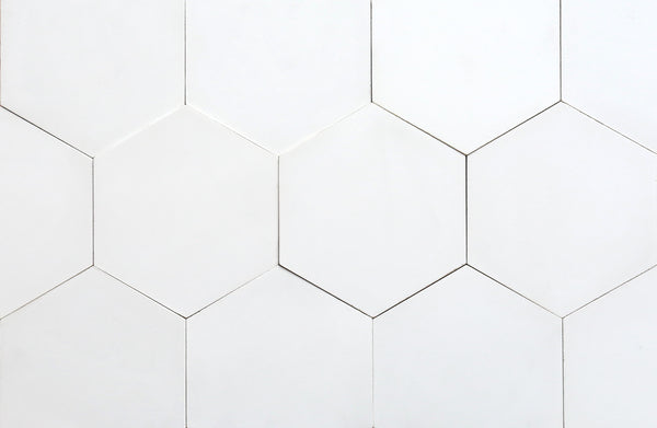 Cement Hexagon White