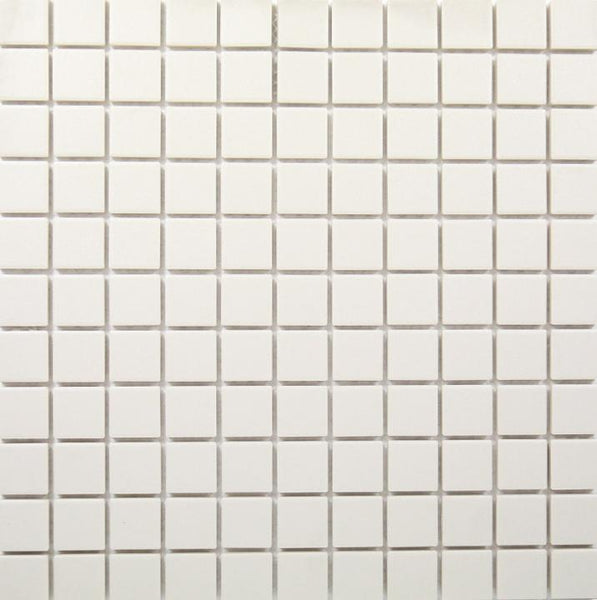 Porcelain Mosaic White Matt 25mm Square