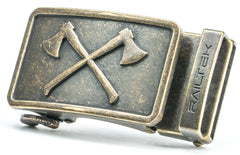 WESTERN | BRONZE AXES Buckle