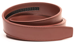 Burgundy Leather Belt - Strap Only