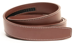 Burgundy Contrast Stitch Leather - Strap Only