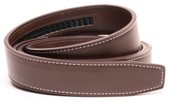 Dark Brown Contrast Stitch Leather - Strap Only