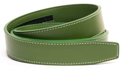 Wilderness Green Contrast Stitch Leather - Strap Only