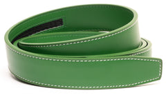 Light Green Contrast Stitch Leather - Strap Only