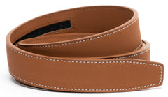 MATTE Light Brown Contrast Stitch Leather - Strap Only