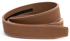 MATTE Mocha Brown Contrast Stitch Leather - Strap Only