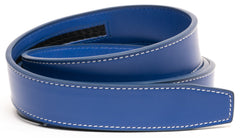 Royal Blue Contrast Stitch Leather - Strap Only