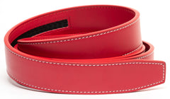 Red Contrast Stitch Leather - Strap Only