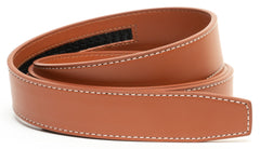 Tan Contrast Stitch Leather - Strap Only
