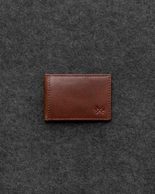 Brown Apollo Leather Travel Card Holder a