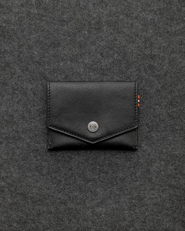 Black Apollo Leather Slim Purse a