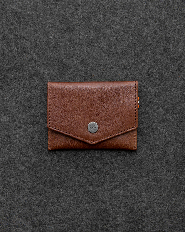 Brown Apollo Leather Slim Purse a