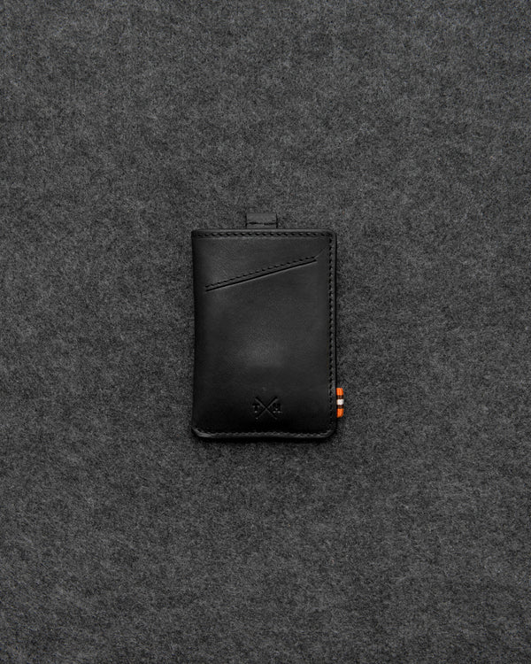Black Chukka Leather Adept Card Holder a