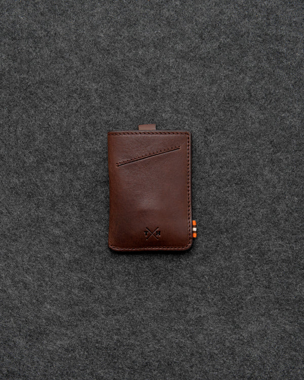 Brown Chukka Leather Adept Card Holder b